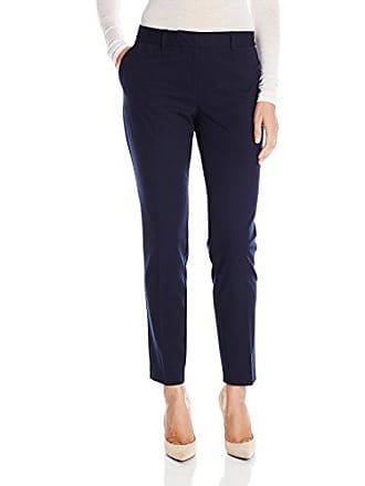 Jones New York Womens Grace Full Length Pant, Navy, 8