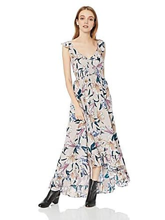 O'Neill Womens Cleo Ruffle Maxi Dress, Multi Colored XL
