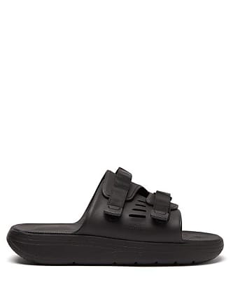 Suicoke Urich Rubber Slides - Mens - Black