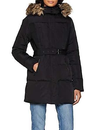 b07c58aa3e22 Pepe Jeans London LIA PL401555 Parka Femme Noir (Black 999) Large (Taille  Fabricant