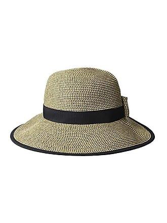 9f852e9ccea87f Scala Paper Braid Round Crown Hat (Black) Caps