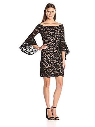 Karen Kane Womens Samantha Lace Dress, Black Nude, M