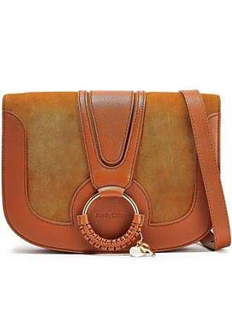 f91d6fac32e58 See By Chloé See By Chloé Woman Hana Small Suede And Leather Shoulder Bag  Tan Size