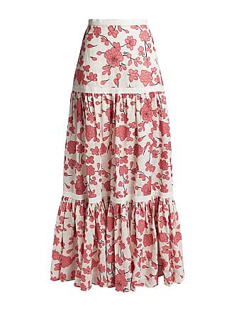 00710064d2af4b Alexis Serri Floral High-rised Maxi Skirt White
