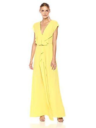 Bcbgmaxazria BCBGMax Azria Womens Evette Woven Ruffle Dress, Dark Lime, 2