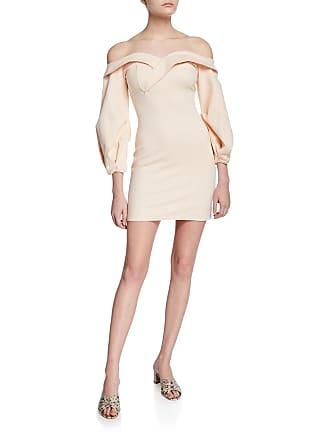331ef684588 Donna Mizani Camilla Off-the-Shoulder Long-Sleeve Mini Dress