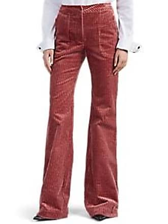 Land of Distraction Womens Bruce Cotton Corduroy Flared Trousers - Pink Size 0