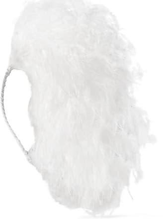 Gigi Burris Millinery Adrianne Feather Headband - White