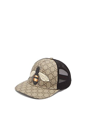 eee0c64540ddcd Gucci Gg And Bee Print Mesh Hat - Mens - Beige
