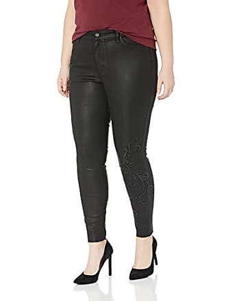 Jessica Simpson Womens Plus Size Curvy High Rise Skinny Jeans, Meteorite/Embroidered/Fray Hem, 22W
