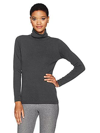 eb6e8cb697a Calvin Klein Performance Womens Long Sleeve Turtleneck Tee, Slate Heather, M