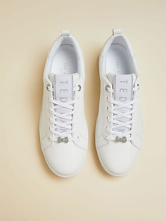 Ted Baker Branded Leather Trainers in White TEDAH, Womens Accessories