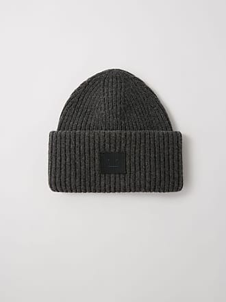 a32636e64ad Acne Studios Pansy N Face Charcoal Melange Ribbed beanie hat