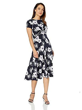 a905dd46e Jessica Howard Womens Petite Short Sleeve Twist Waist Midi Dress