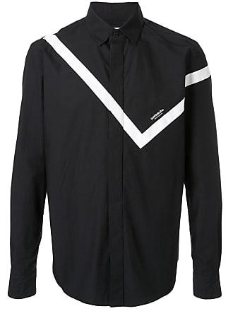 Yoshiokubo striped button up shirt - Black