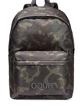 b386c5b91e2 HUGO BOSS Sac à dos à imprimé camouflage en gabardine de tissu  technique195.00