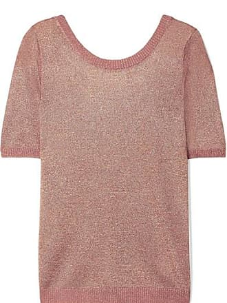 Missoni Metallic Stretch-knit Top - Pink