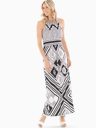 Soma Lace Paisley Printed Maxi Dress Black/White, Size XS