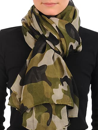 Liss Kiss Camouflage Unisex Scarf & Beach Sarong - Green Designer Scarf