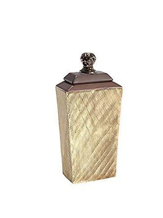 Sagebrook Home 12340-02 Ceramic Covered Jar, Brown Ceramic, 6.25 x 3.25 x 13 Inches