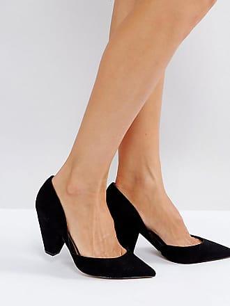 c5a9e838eb5 Asos ASOS - SULPHUR - Högklackade skor med spetsig tå och bred passform -  Svart