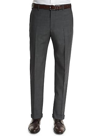 Zanella Parker Micro Box-Check Trousers, Gray