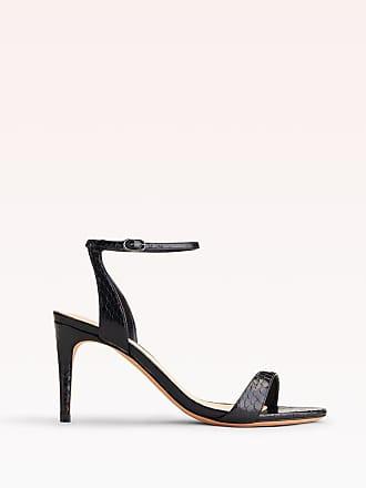 Alexandre Birman Willow 75 Exotic Sandal - 40.5 Blush Naja Naja Snake Leather
