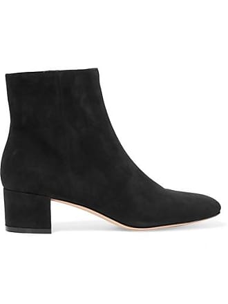 Gianvito Rossi Trish 45 Suede Ankle Boots - Black