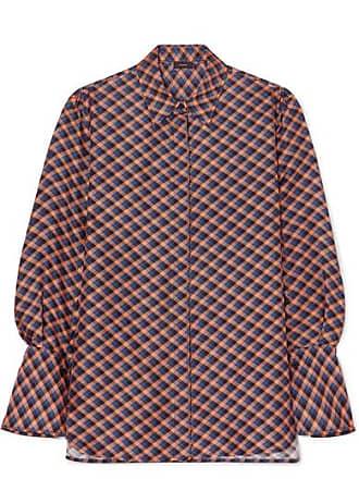 Joseph Mason Checked Silk-twill Shirt - Blue