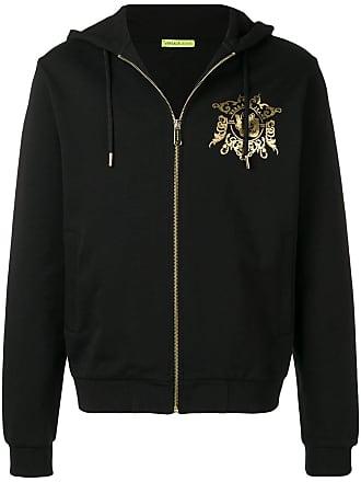 Versace Jeans Couture sweat à capuche zippé à logo - Noir 4175ebfe098