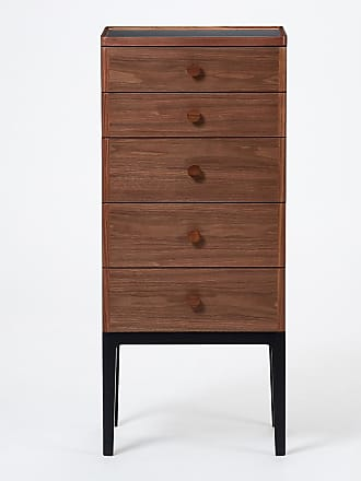 The Conran Shop Exclusive Monument 5-Drawer Tallboy in Walnut & Ash