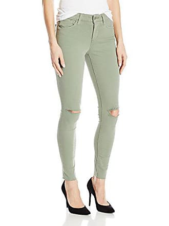 Joe's Womens Flawless Distressed Color Icon Midrise Skinny Ankle Jean, Olive, 27