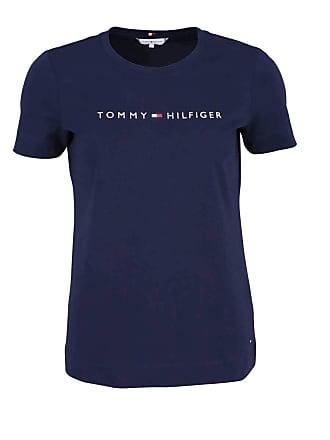 7da63d37 Tommy Hilfiger Womens Th Ess Hilfiger Crew Neck Tee Ss T-Shirt, Blue (