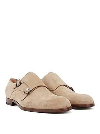 db0c827acb5 BOSS Chaussures en cuir suédé double boucle à semelle extérieure beige295.00
