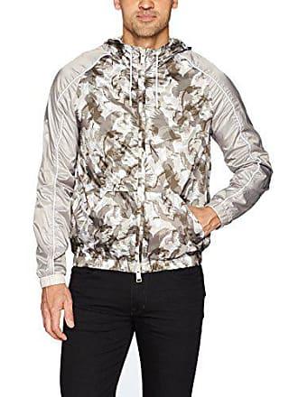 A|X Armani Exchange Mens All Over Printed Eagle Camo Jacket, Beige, Medium