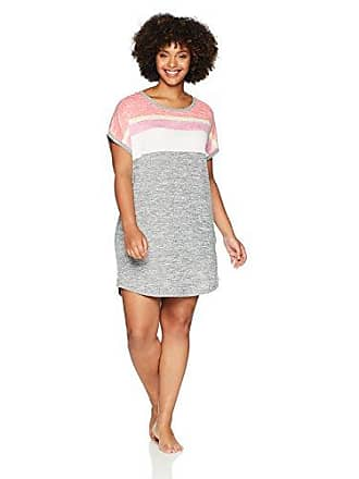 a4458f8a89 Kensie Womens Plus Size Placement Stripe Short Sleeve Sleep Tee