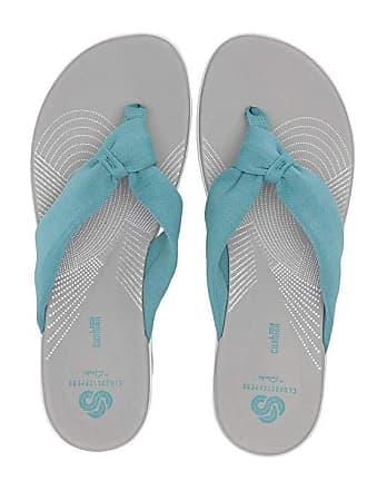 1f028054c94e Clarks Arla Glison (Aqua Solid Textile) Womens Sandals
