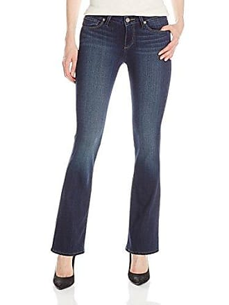 Paige Womens Petite Size Skyline Boot Jeans-Nottingham, 25