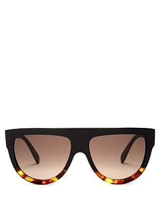 1fe1965d79 Celine Aviator D Frame Acetate Sunglasses - Womens - Black Multi