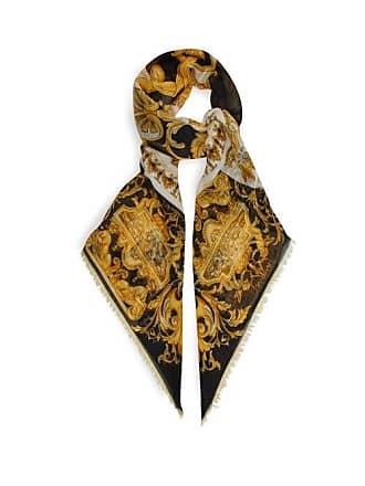 22cfcce929b Versace Écharpe en laine mélangée à motif Baroque