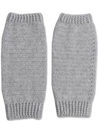Novica Alpaca blend leg warmers, Cozy Smoke Grey