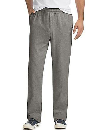 Hanes X-Temp Mens Jersey Pocket Pant Charcoal Heather 2XL