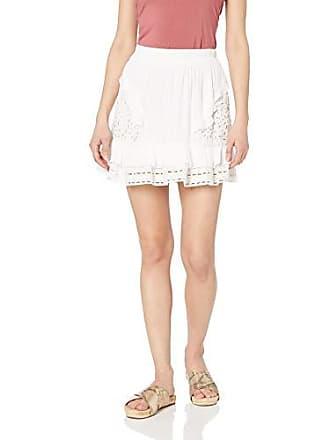 Ramy Brook Womens BRIT Eyelet Mini Skirt, White, Extra Small