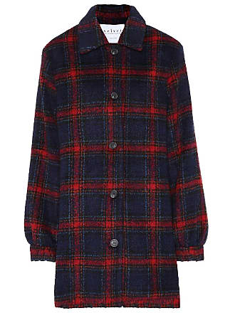 Velvet Colette wool-blend plaid jacket