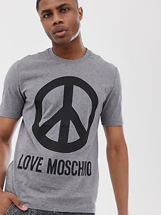 Love Moschino peace logo t-shirt-Grey