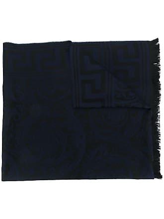Versace Barocco pattern scarf - Azul