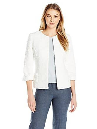 Kasper Womens Textured Novelty Flyaway Jacket, Vanilla Ice, 6