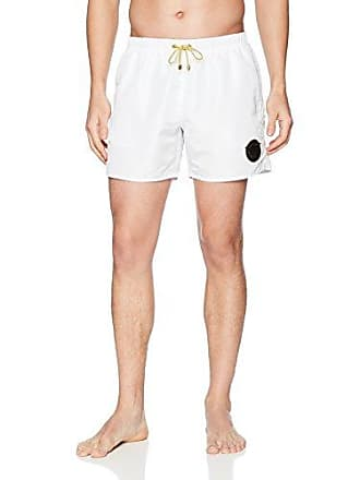d10714044ebb7 Emporio Armani EA7 Mens Sea World Swimwear Soccer Archive Boxers, White,  Medium