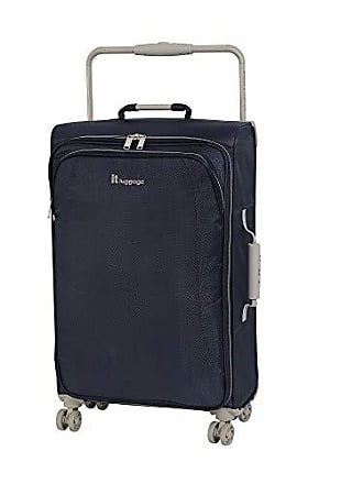 IT Luggage IT Luggage 27.6 Worlds Lightest 8 Wheel Spinner, Evening Blue With Cobblestone Trim