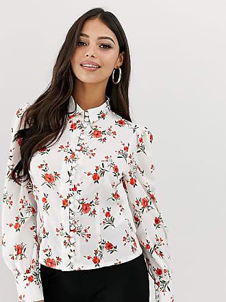 4ff0e39bb4a4 Fashion Union Petite Camicia a fiori con bottoni sul davanti - Bianco